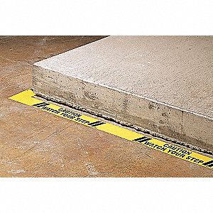 SAFETY WARNING TAPE,ROLL,3IN W,60 F