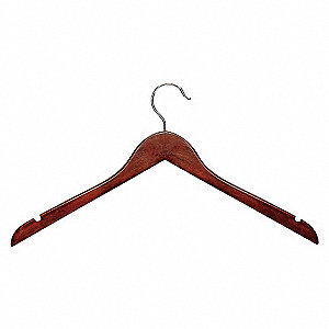 SHIRT HANGER,CHERRY,WOOD,PK 5