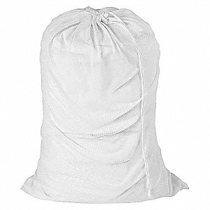 LAUNDRY BAG,WHITE,MESH