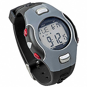 Silver, Black Heart Rate Monitor
