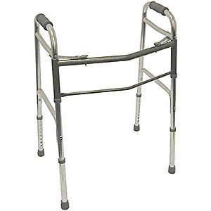 "Bariatric Adult Walker, 31 to 36"" Height, Silver/Gray"