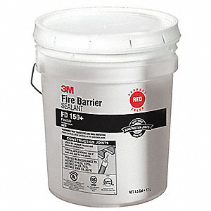 Fire Barrier Sealant,4.5 gal.,Red