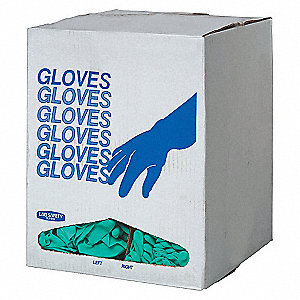 DISPOSABLE GLOVES,NITRILE,7,GREEN,P