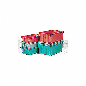 STACK AND NEST CONTAINER,GRAY,10X5X