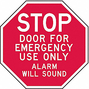 SIGN,DOOR FOR EMERGENCY USE