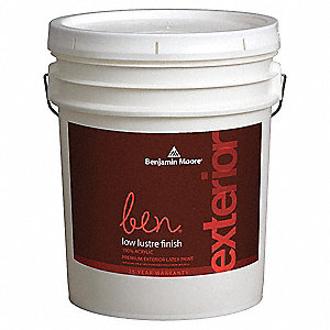 Exterior Paint,Low Lustre,5 gal,Lemon Ic