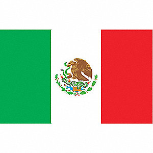 MEXICO FLAG,3X5 FT,NYLON
