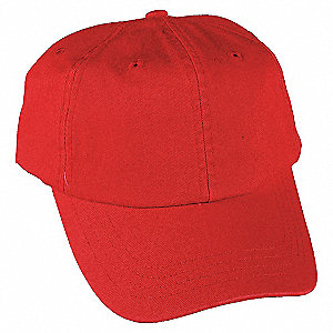 BASEBALL HAT,RED,ADJUSTABLE