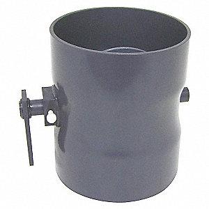 BUTTERFLY DAMPER,PVC,8 IN.