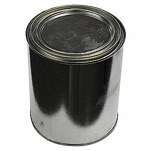 PAINT CAN,UNLINED,QUART,SILVER