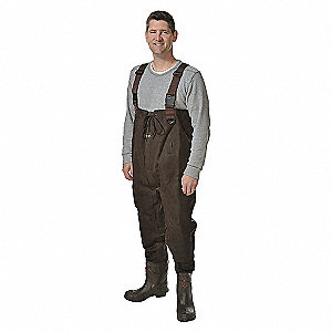 CHEST WADER,SIZE 12,DARK BROWN,PR