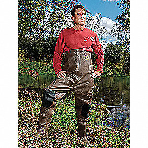 INS CHEST WADERS,MENS,14,BROWN/BLAC