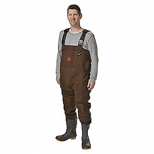 CHEST WADER,SIZE 9,BROWN,PR