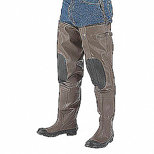 INSULATED HIP WADERS,MENS,SIZE 14,P
