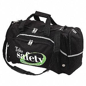 DUFFEL BAG,SAFETY EVERYWHERE,BLACK