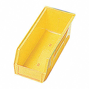 SHELF BIN,11-5/8L X 2-3/4W,YELLOW