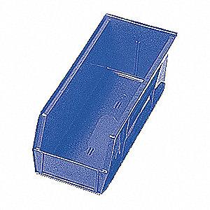 SHELF BIN,17-7/8L X 6-5/8W,BLUE