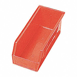 SHELF BIN,11-5/8L X 2-3/4W,RED
