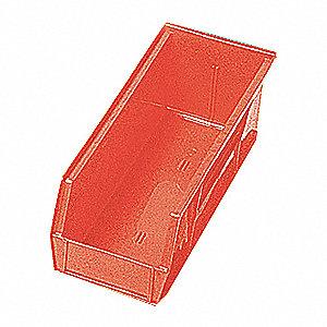 SHELF BIN,17-7/8L X 6-5/8W,RED