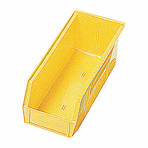 SHELF BIN,11-5/8L X 6-5/8W,YELLOW