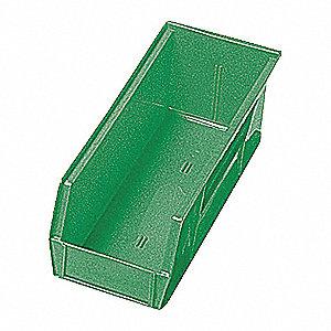 SHELF BIN,11-5/8L X 4-1/8W,GREEN
