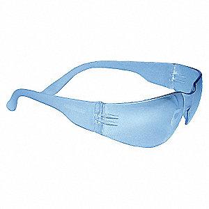 SAFETY GLASSES,LIGHT BLUE,SCRTCH-RS