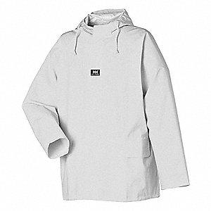 HELLY HANSEN Rain Jacket with Hood,White,3XL - 18X753|70211-900 ...