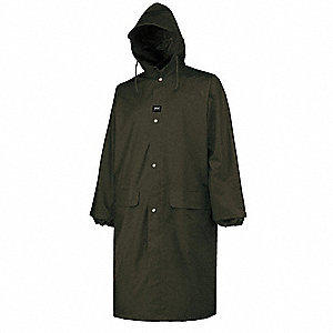 Men's Raincoat with Attached Hood, Polyurethane