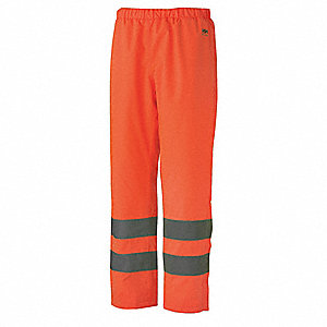 Insulated Rain Pants,Hi-Vis,Orange,L
