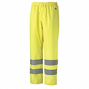 Insulated Rain Pants,Hi-Vis,Yellow,2XL