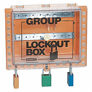 GROUP LOCKOUT BOX HINGED GREEN PC 1