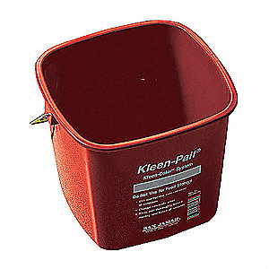 CLEANING PAIL, 6 QT., RED, PLASTIC