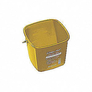 CLEANING PAIL, 6 QT., YELLOW, PLAST