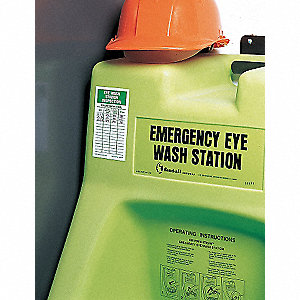 EYE WASH STA INSPECTION TAG,AL,PK25