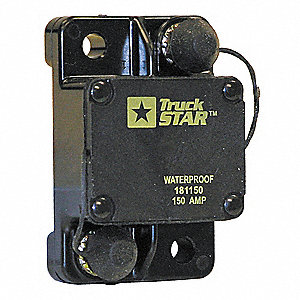 CB Series Automotive Circuit Breaker, Surface Mounting, 60 Amps, Screw Terminal Connection