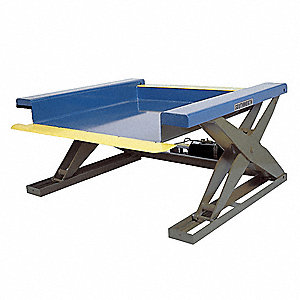Stationary Electric Lift Scissor Lift Table, 4000 lb. Load Capacity, Lifting Height Max. 35""