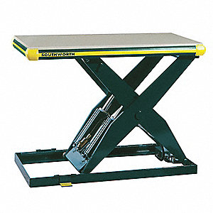 Stationary Electric Lift Scissor Lift Table, 4000 lb. Load Capacity, Lifting Height Max. 42-3/4""
