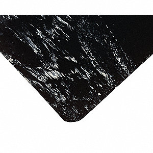ANTI-FATIGUE MAT,RUBBER/PVC,BLACK,4