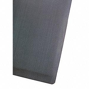 ANTI-FATIGUE MAT,RUBBER/PVC,BLK,4 X