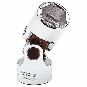 "21mm Alloy Steel Flex Socket with 1/2"" Drive Size and Chrome Finish"