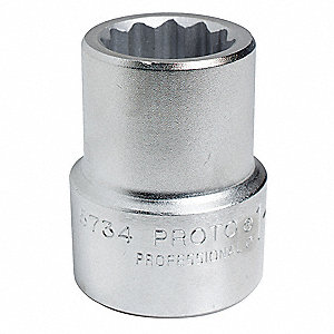 "54mm Alloy Steel Socket with 1"" Drive Size and Satin Finish"