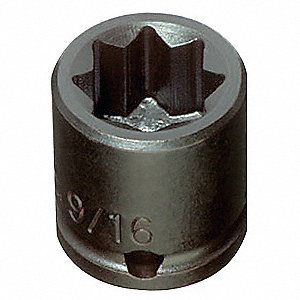 Impact Socket,3/8 In Dr,5/16 In,8 pt