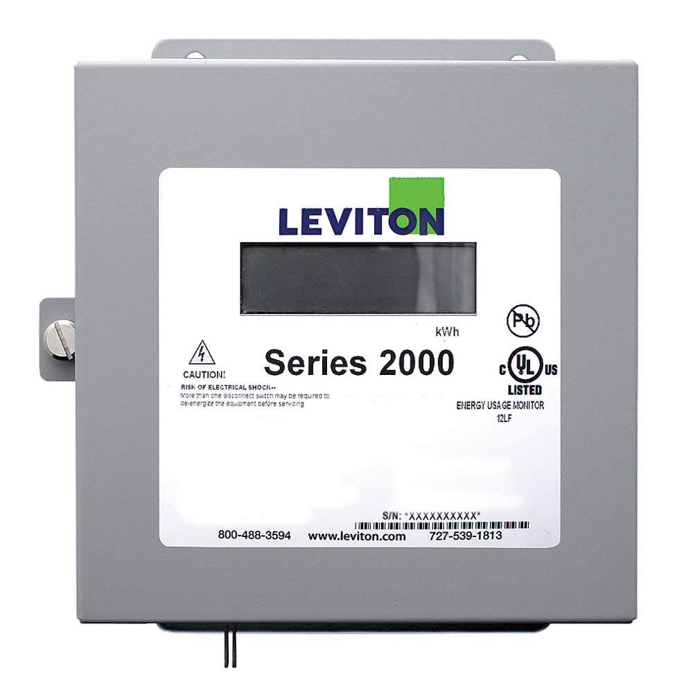 LEVITON Energy Meter,LCD,120/208VAC Wye - 19C697|2K208-2W - Grainger