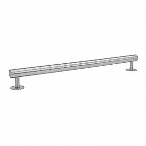 GRAB BAR,SATIN NICKEL SS,19 IN