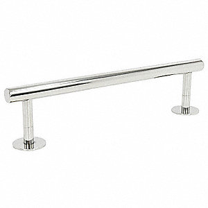 "12""L Polished Chrome Stainless Steel Towel Bar, Modern Elegance Collection"