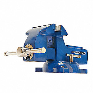 "Heavy Duty Combination Vise, 6"" Jaw Width, 7"" Max. Opening, 3-3/4"" Throat Depth"