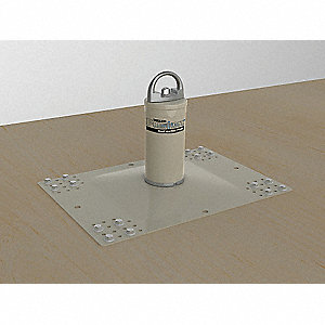Roof Anchor Post,22 In. L,8-3/5 In. D