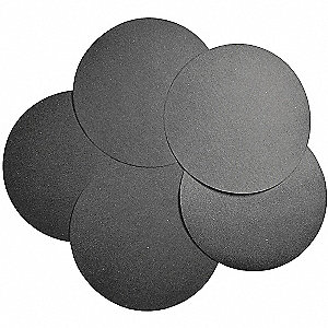 "12"" Abrasive Paper Disc, 600 Grit, Super Fine, Coated, No Hole, Silicon Carbide, Abrasive, PK100"