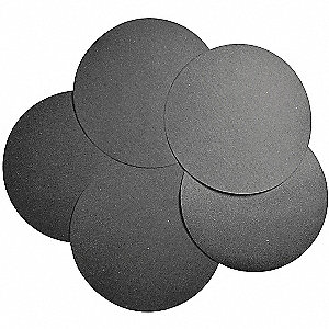 "12"" Abrasive Paper Disc, 180 Grit, Very Fine, Coated, Silicon Carbide, PK100"