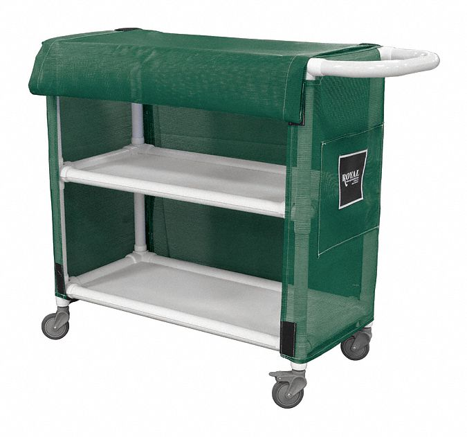2-Compartment Bulk Linen Cart, 300 lb Capacity, 32 in L X 19 3/4 in W X 42 in H